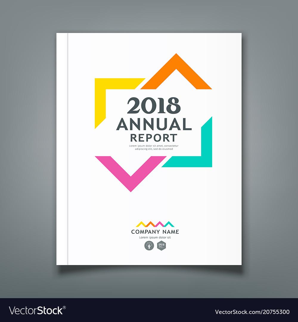 Annual report colorful triangle design