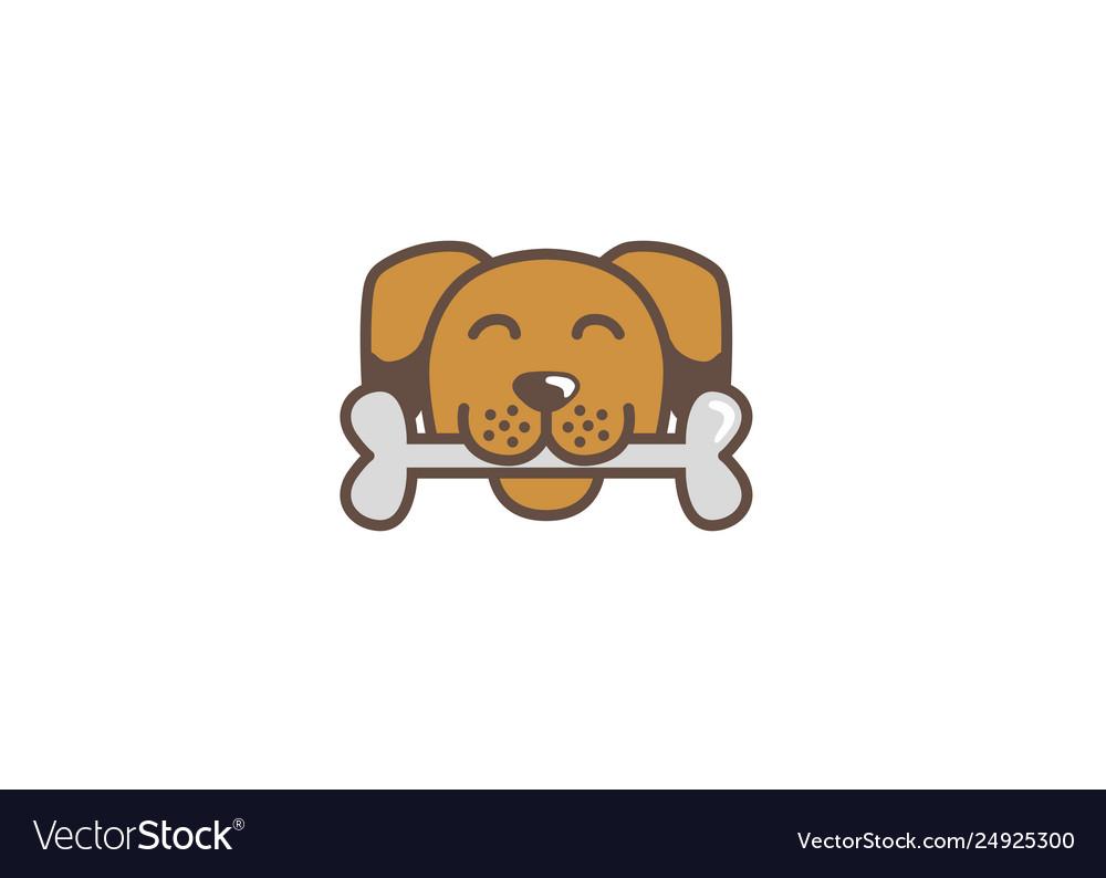 Creative dog bone logo