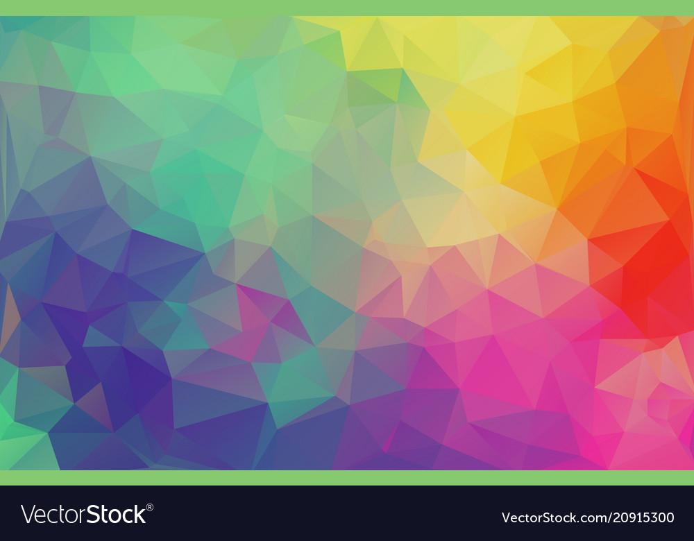 Flat design multicolor triangle wallpaper