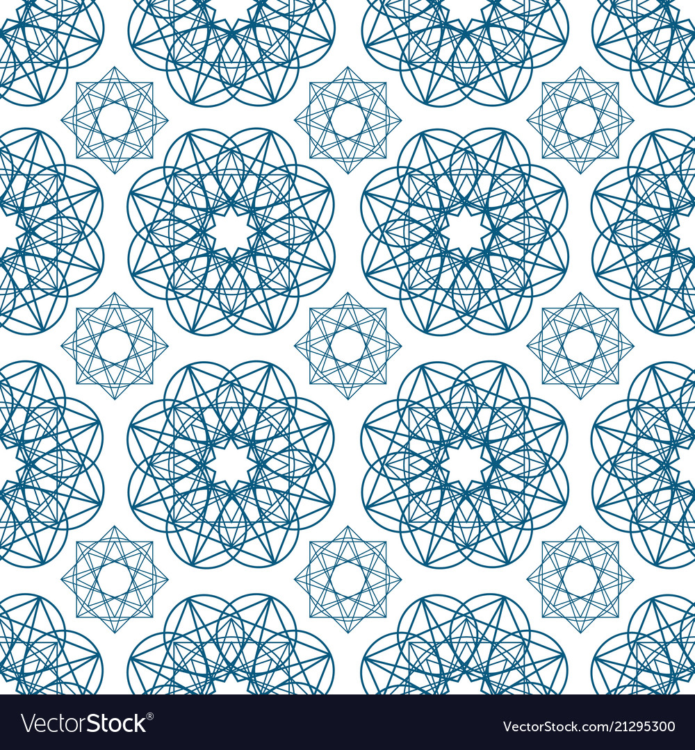 Geometric seamless pattern with circular shapes