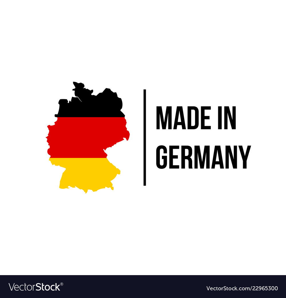 Made In Germany Icon With German Flag Map Vector Image