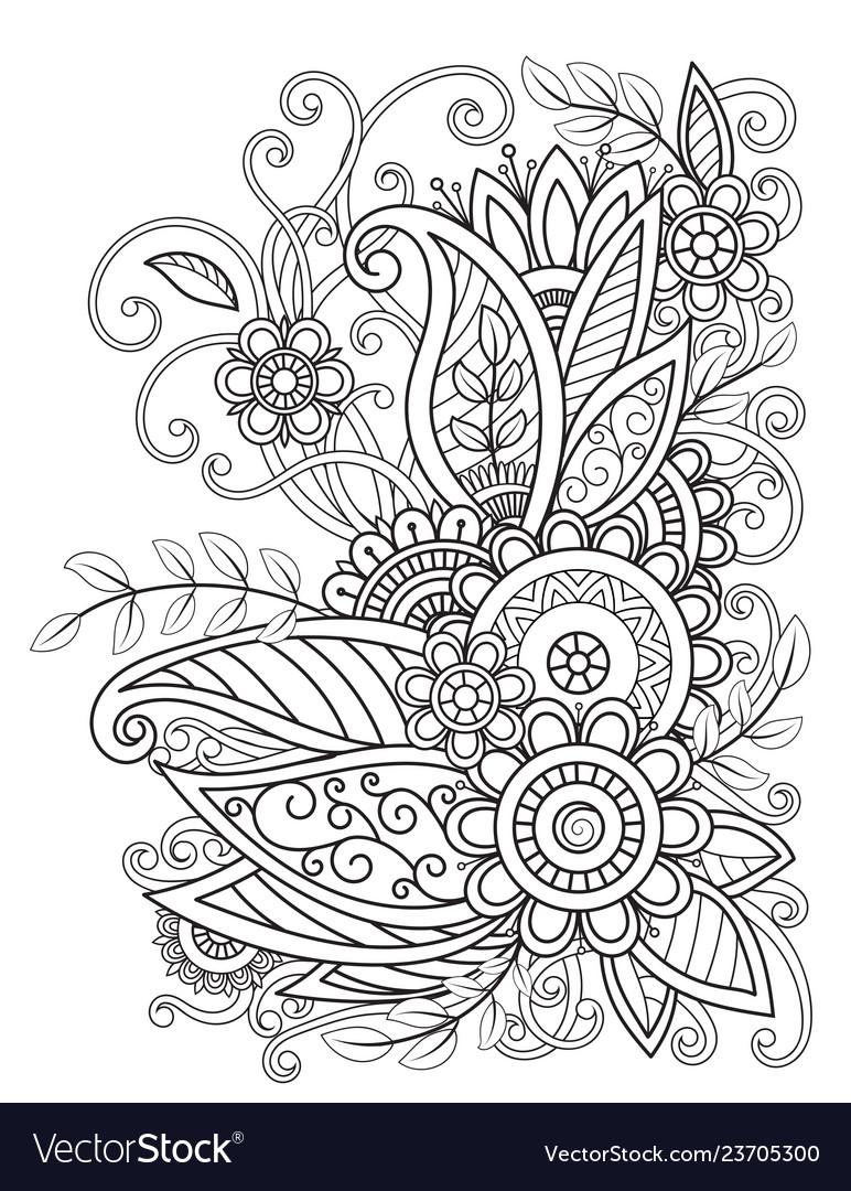 Oriental floral design