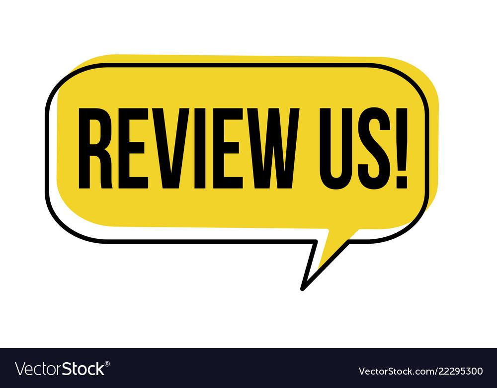 Review us speech bubble