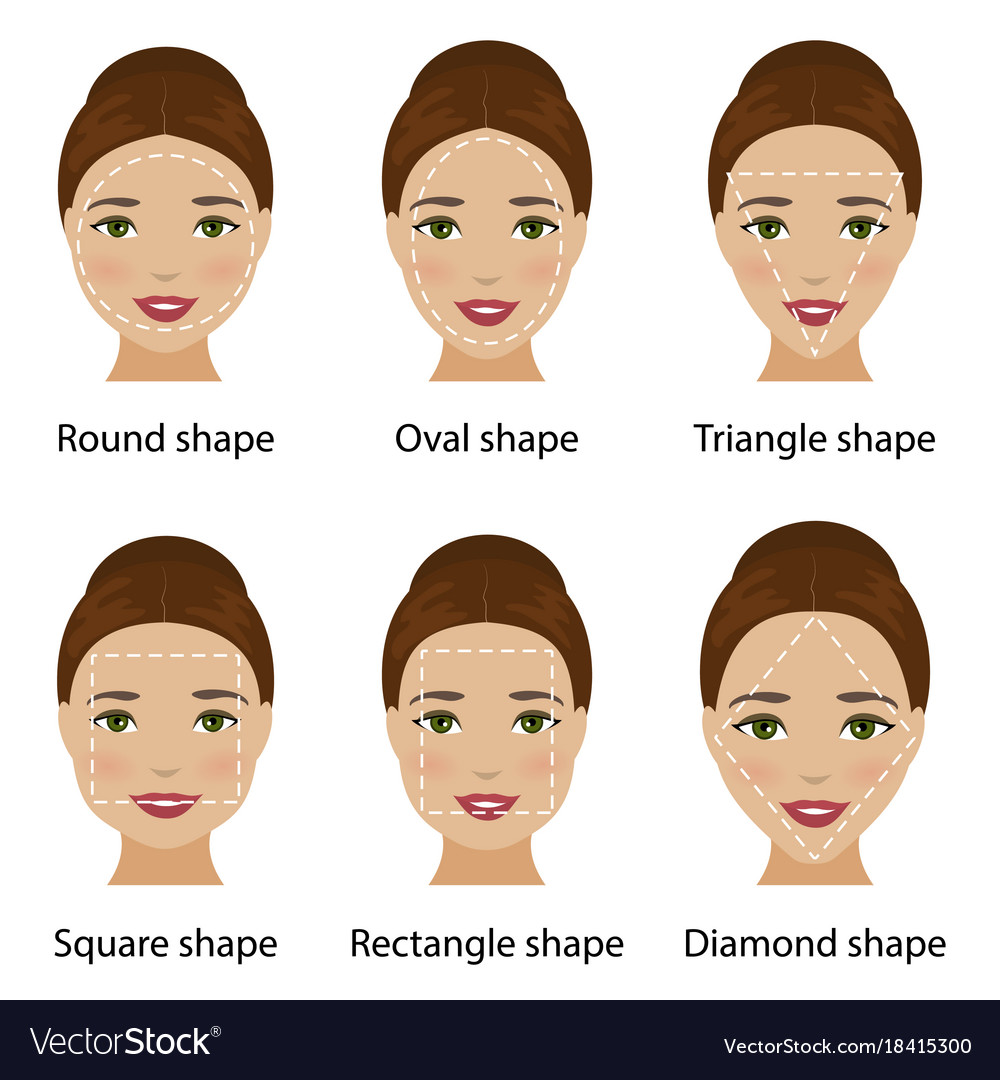 Incredible Woman Face Shapes Royalty Free Vector Image Vectorstock Schematic Wiring Diagrams Amerangerunnerswayorg