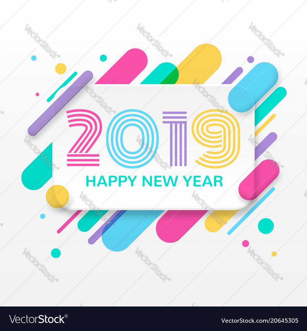 2019 happy new year greeting card royalty free vector image 2019 happy new year greeting card vector image m4hsunfo