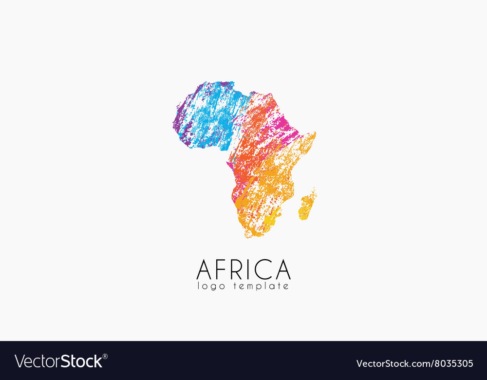Abstract africa logo Color Africa logo Colorful