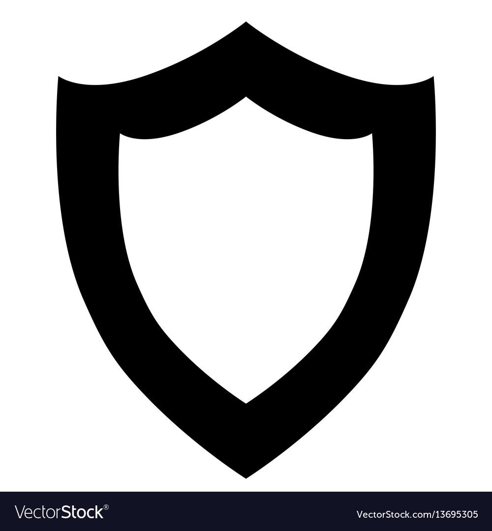 Black shield icon on white background
