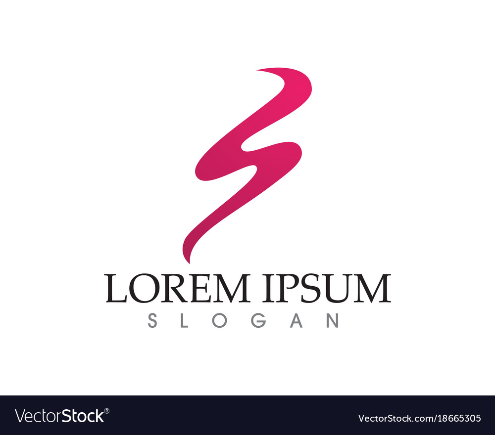 business corporate letter s logo design royalty free vector