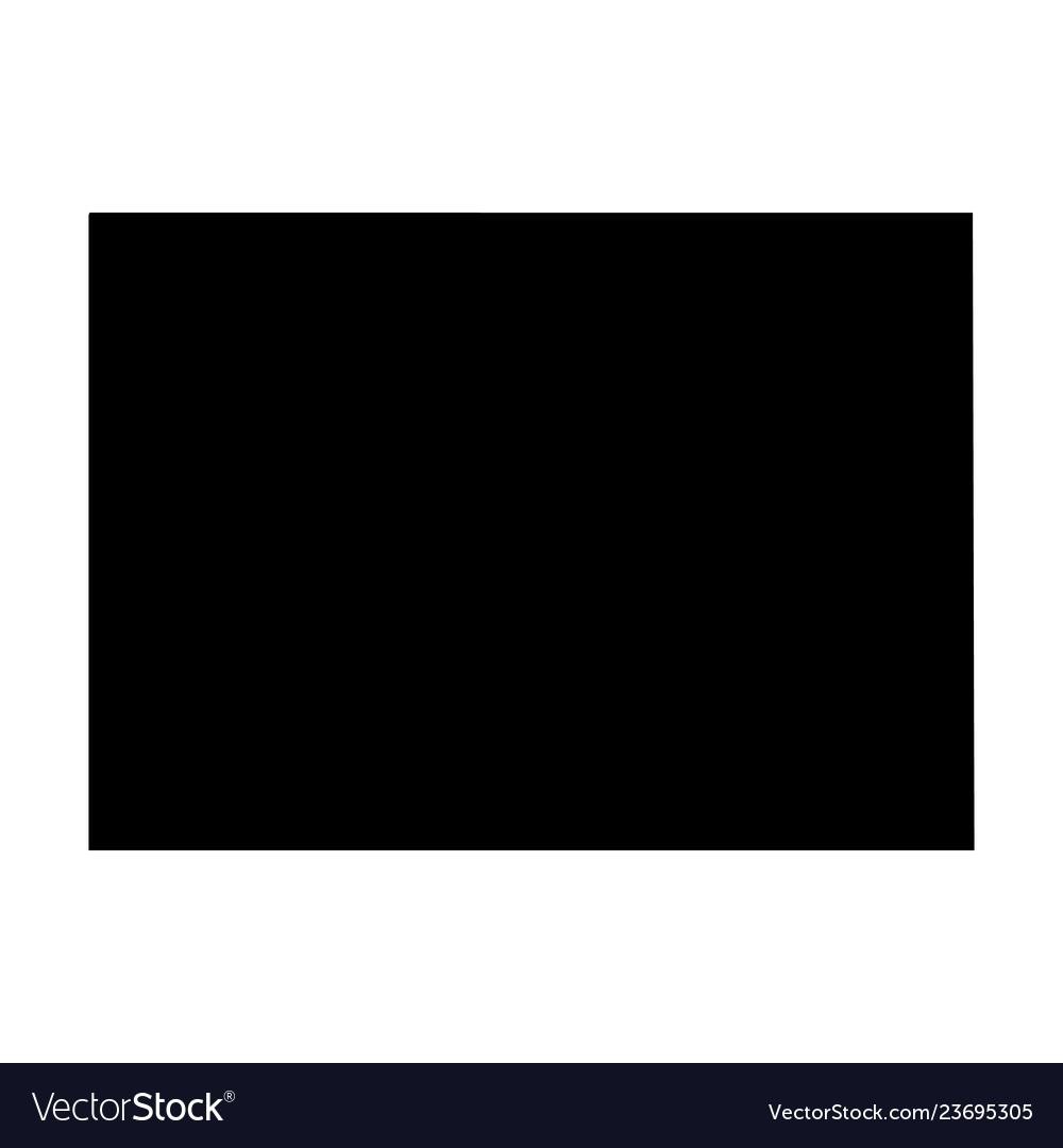 Colorado State Of Usa Solid Black Silhouette Vector Image