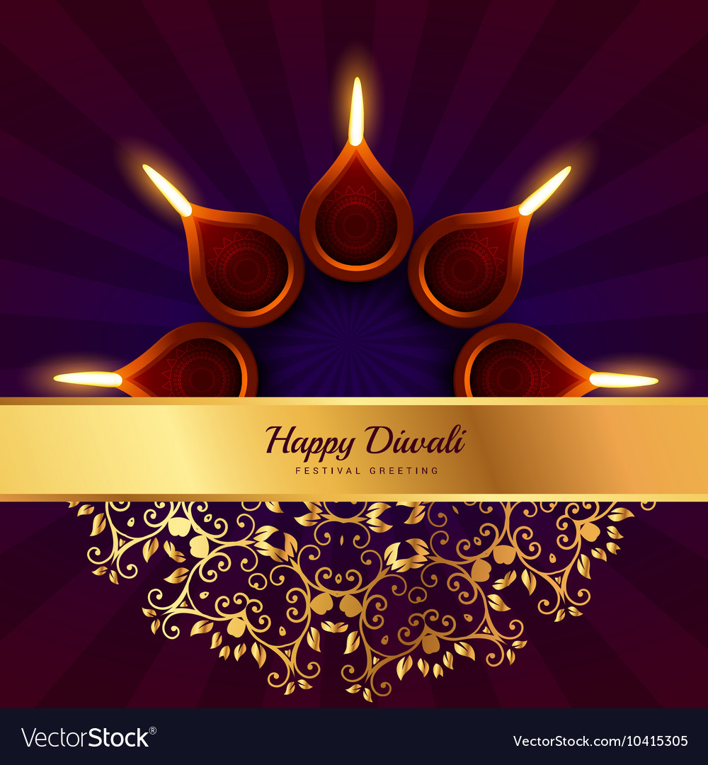 Happy diwali greeting design background royalty free vector happy diwali greeting design background vector image m4hsunfo