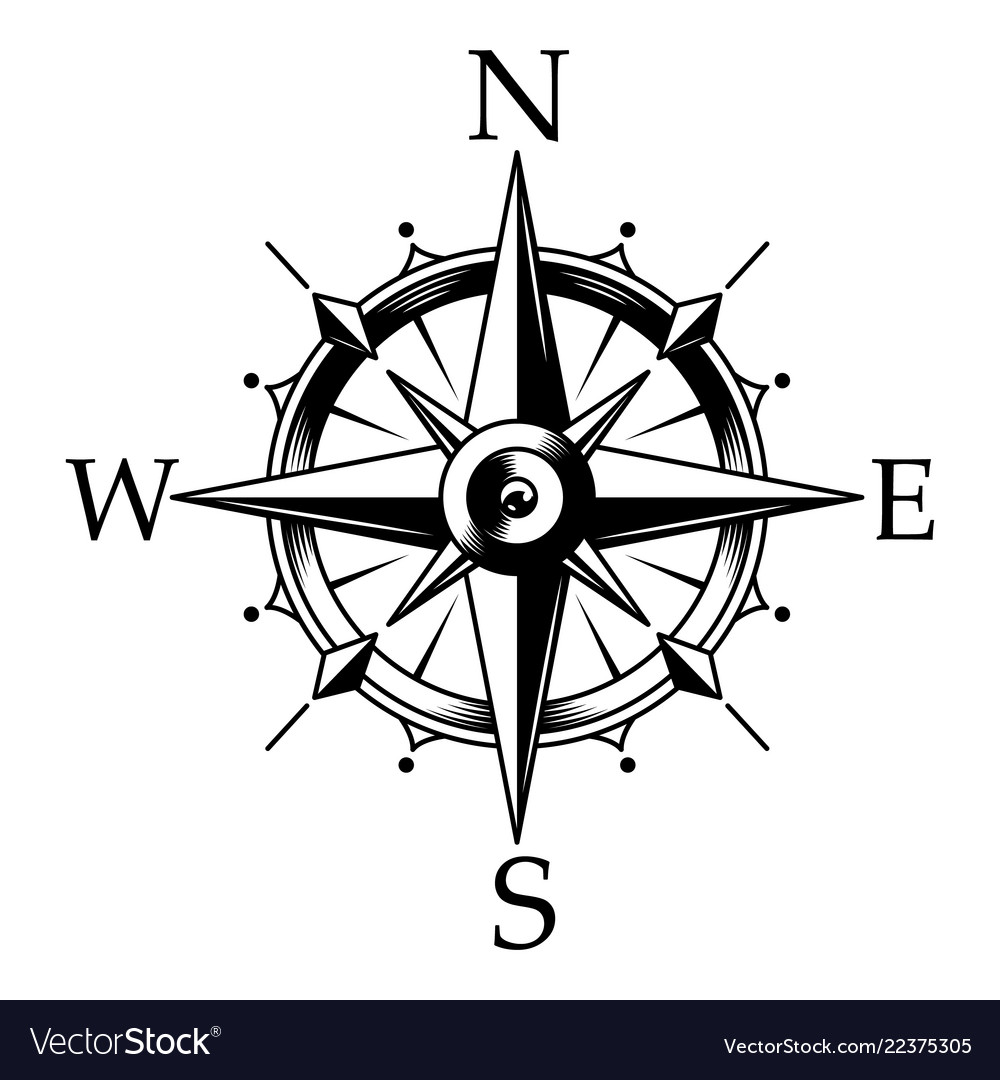 nautical compass and wind rose concept royalty free vector