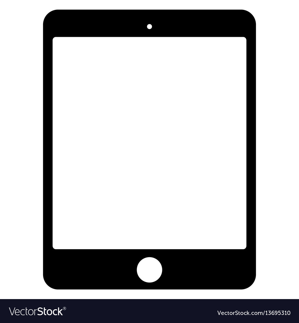 Black tablet icon on white background