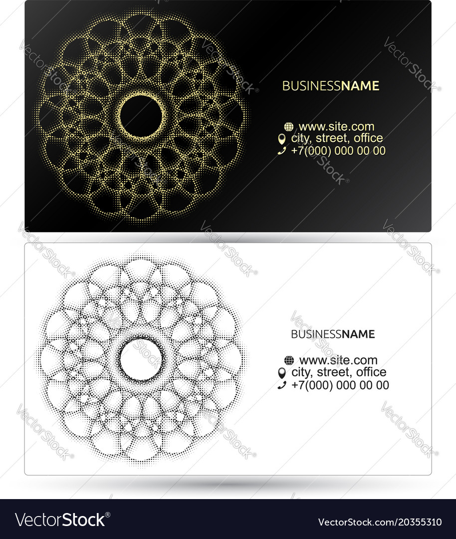 Business card with pattern abstract