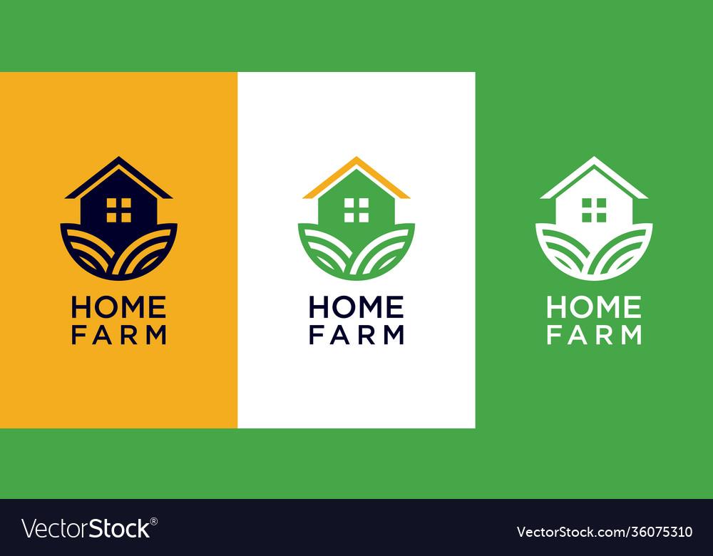 Home farm logo design