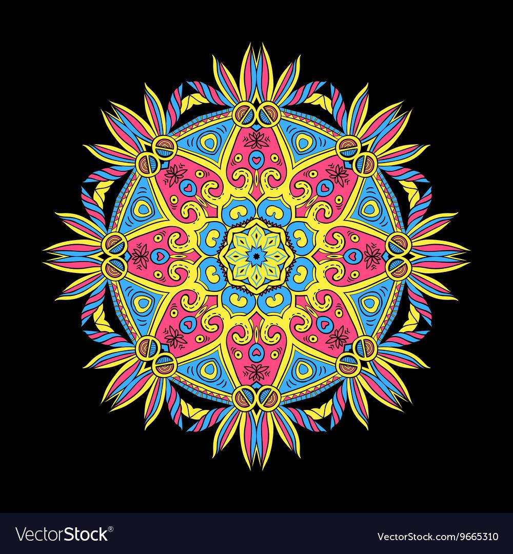 Round Mandala Color Dark 5
