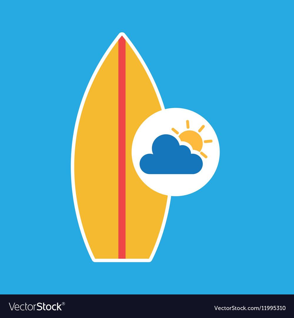 Summer vacation design surfboard