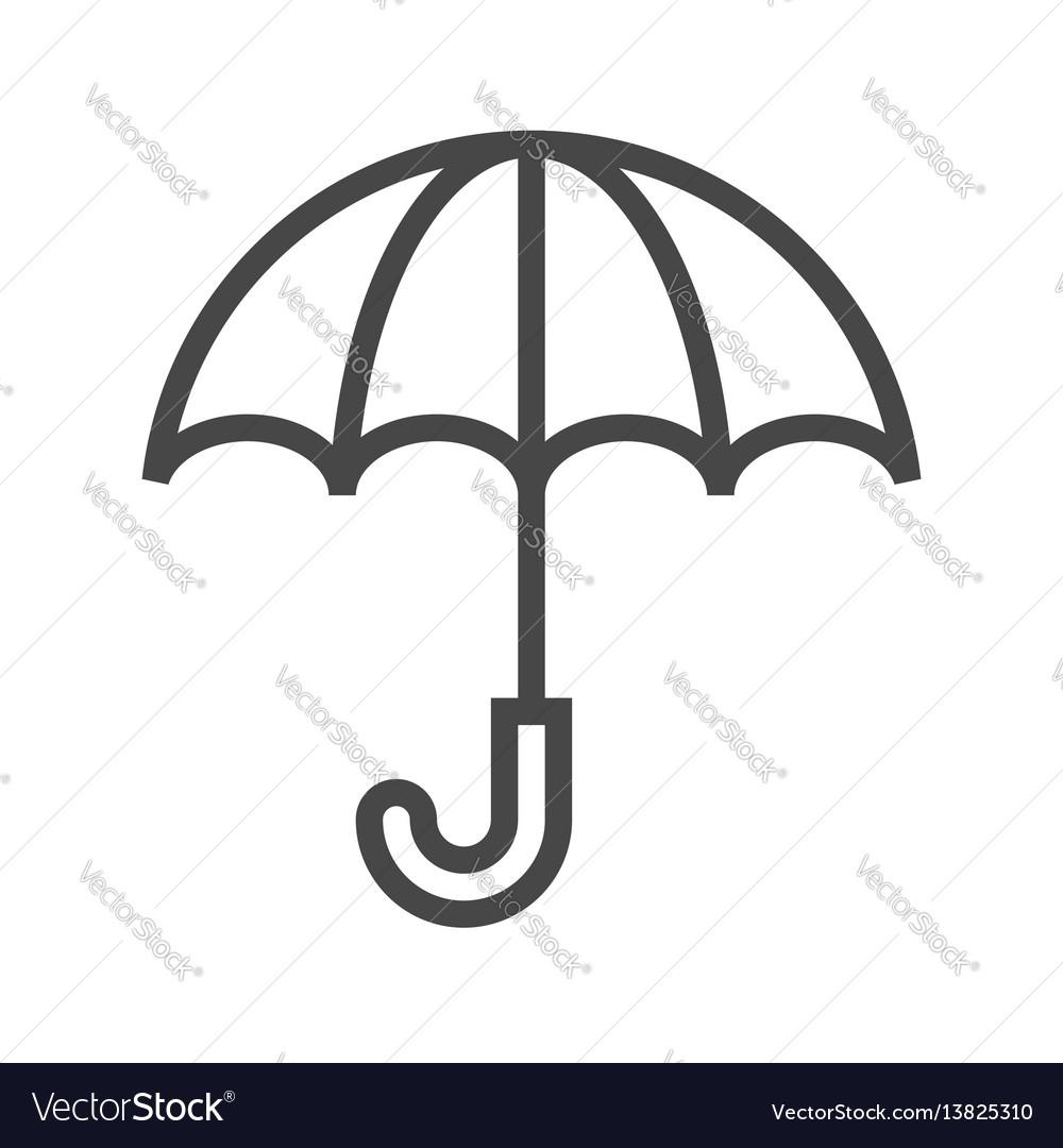 Umbrella thin line icon vector image