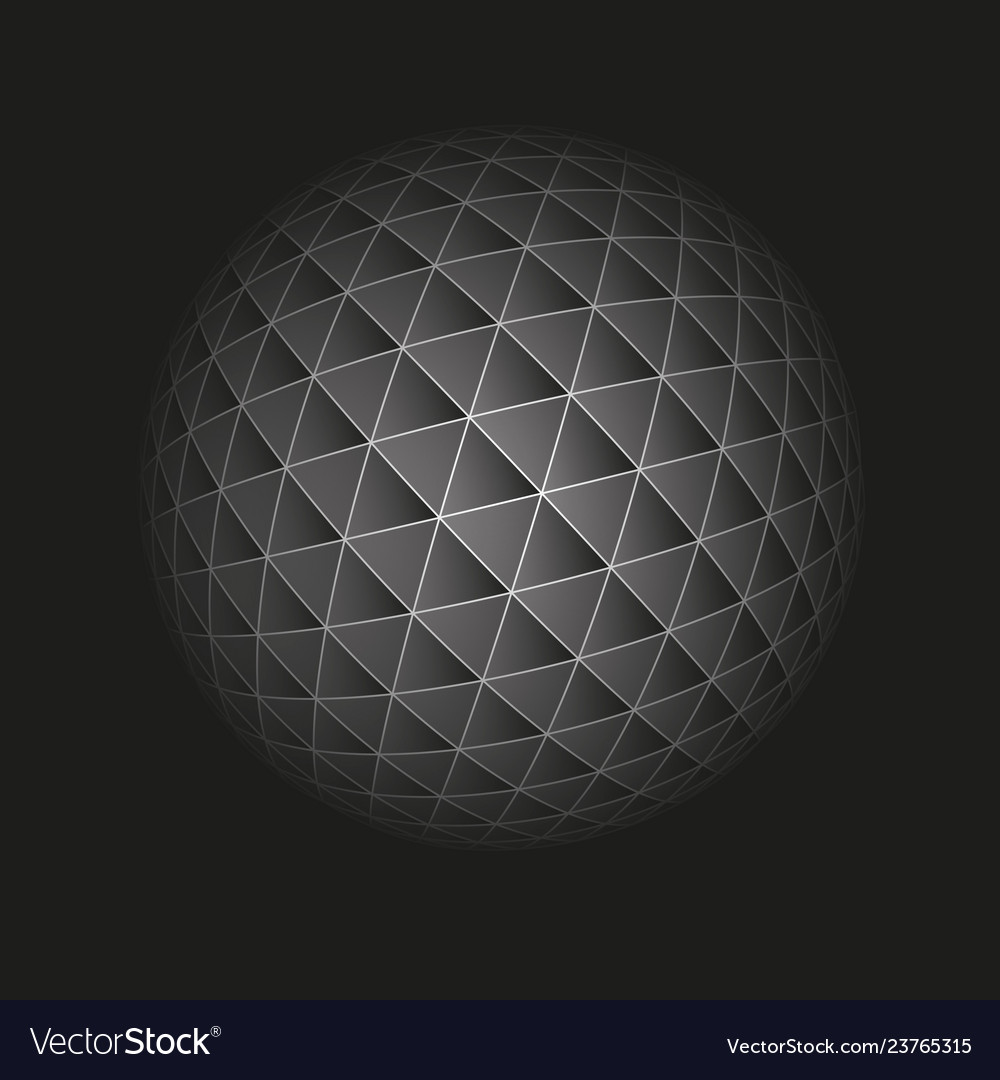 Abstract geometric sphere from triangular faces