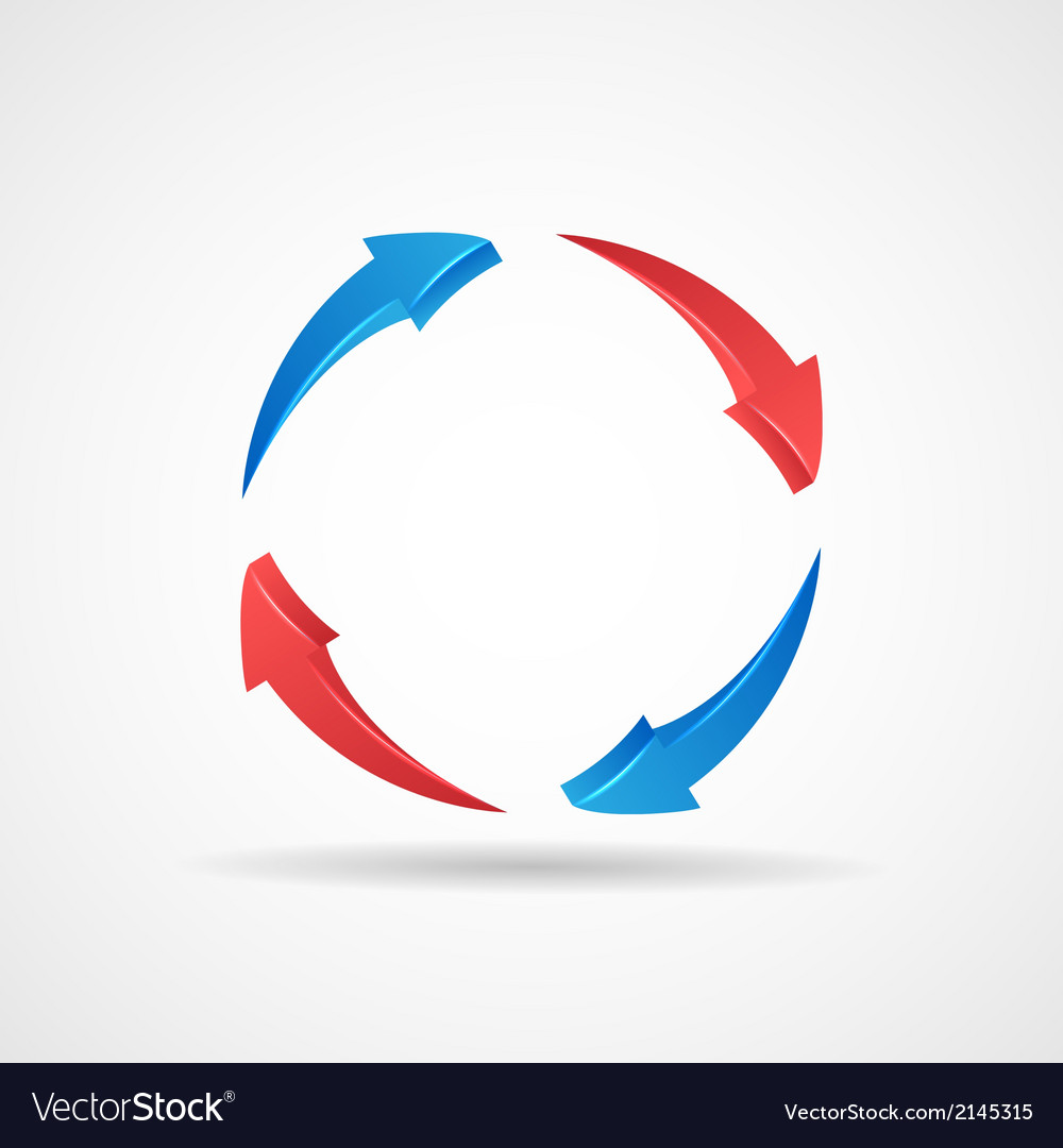 Cycle Update Symbol 3d Abstract Arrows Icon Design