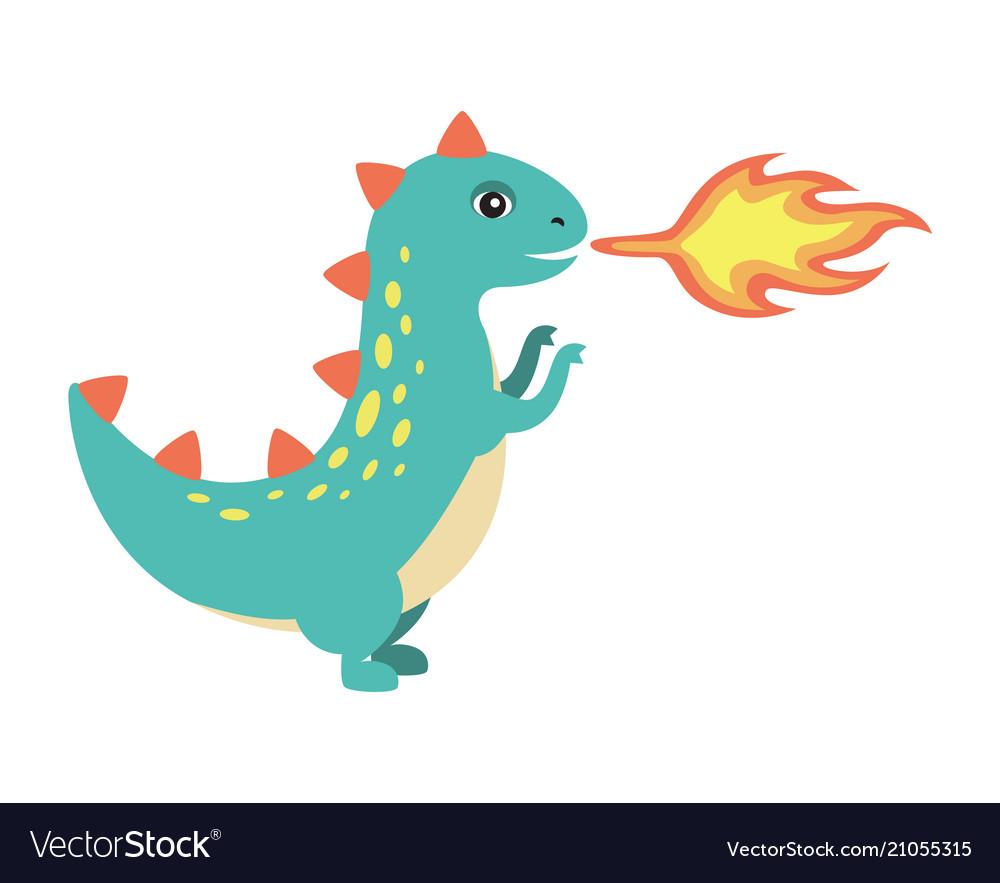 dinosaur making fire image royalty free vector image