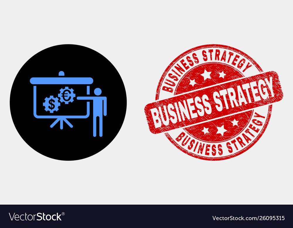 Financial engine presentation icon and