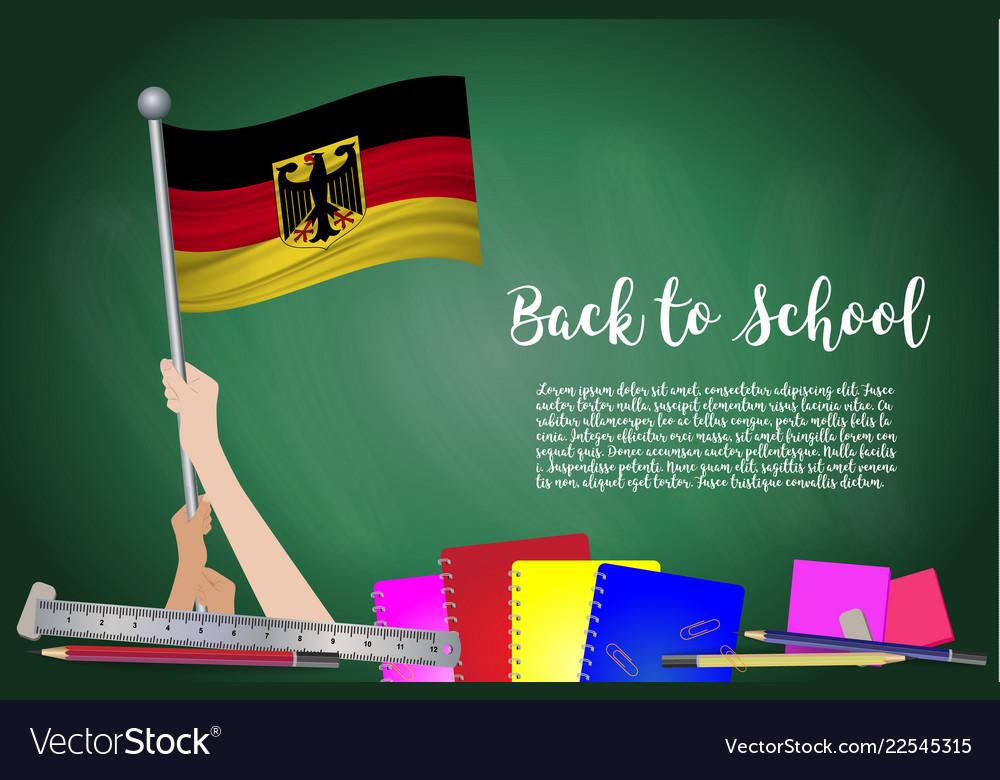 Flag of germany on black chalkboard background