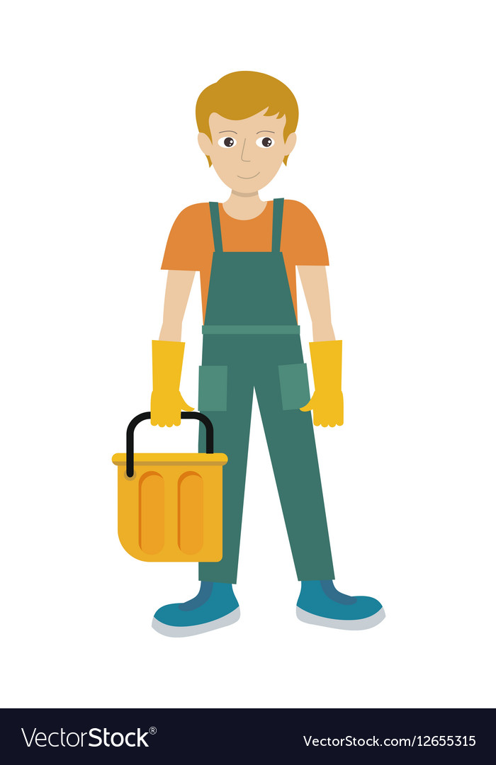 Man Character in Flat Style