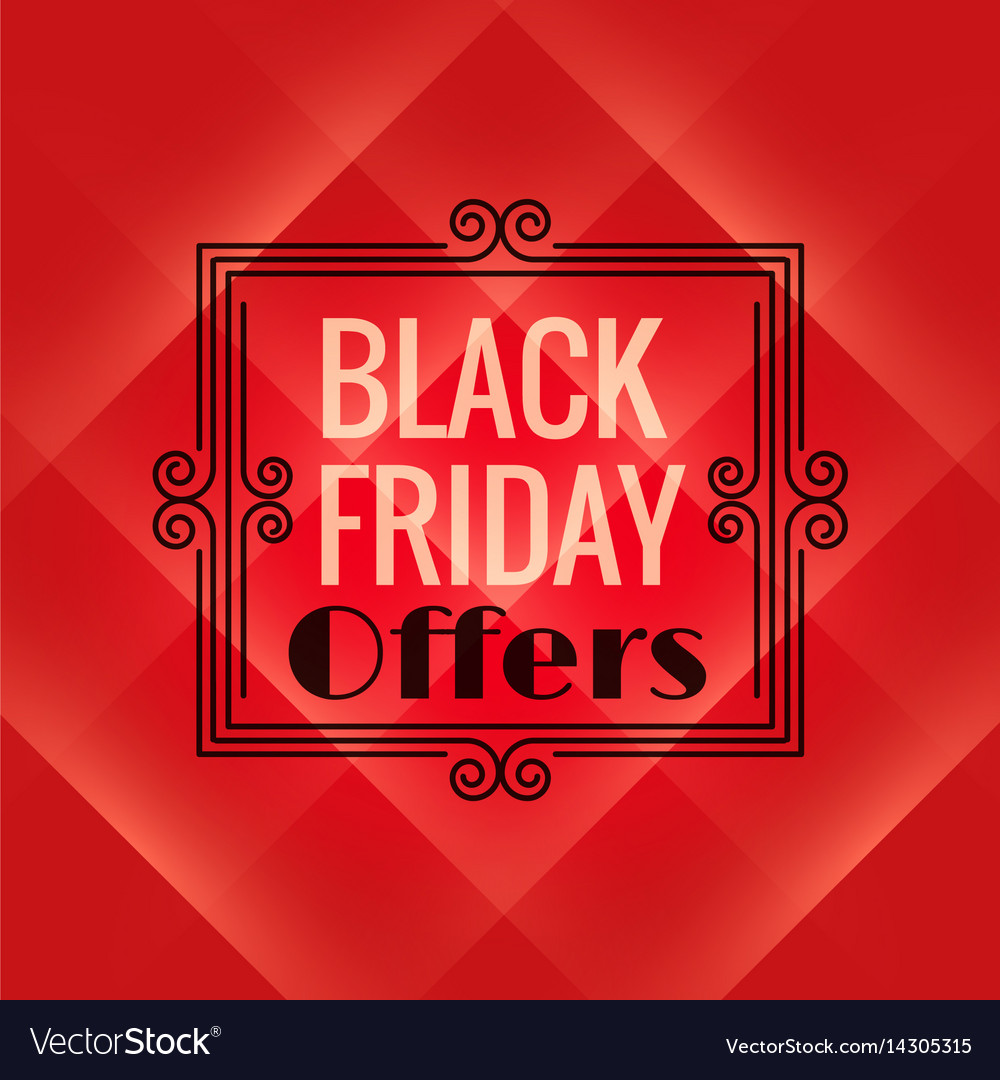 Red background for black friday event black