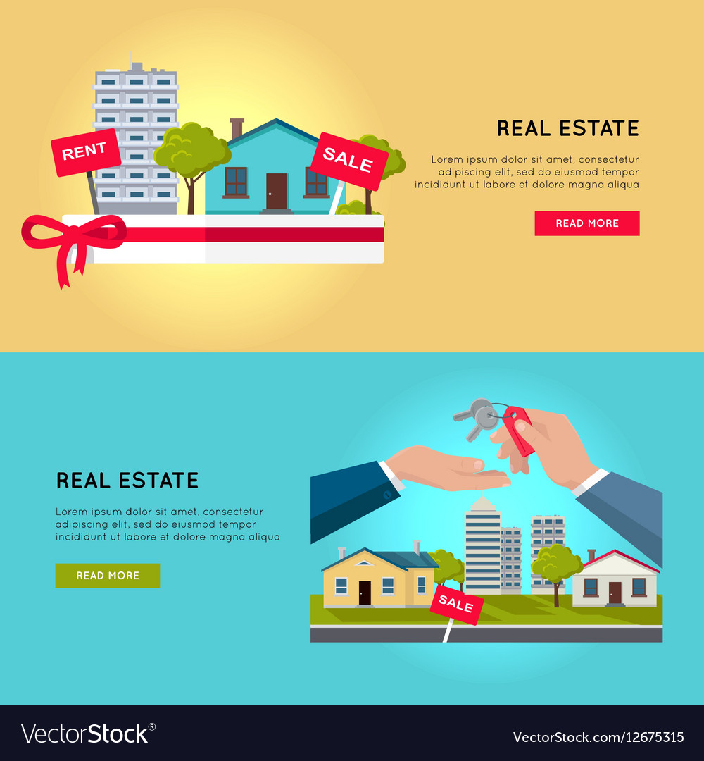 Set of Real Estate Web Banners