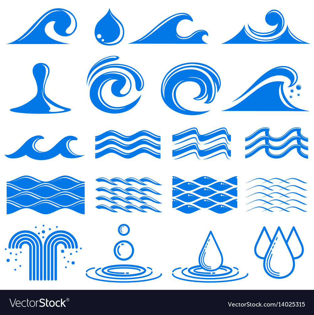 Waves and water symbols