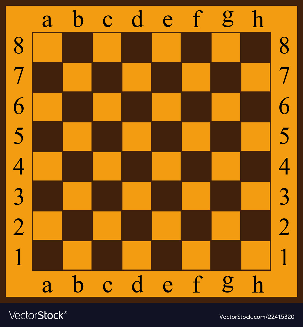 A chessboard yellow and br