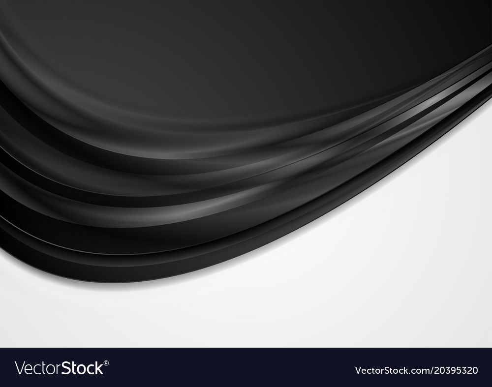 Abstract black and white contrast wavy background vector image