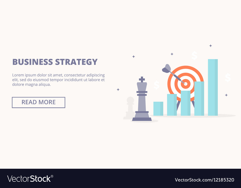 Business strategy horizontal banner