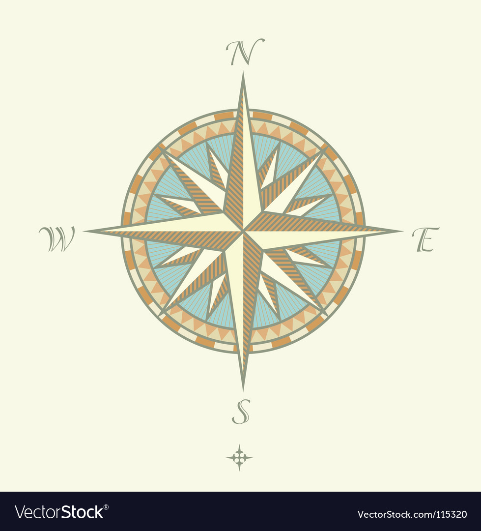 Compass windrows vector image