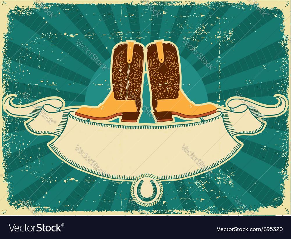 Cowboy boots card