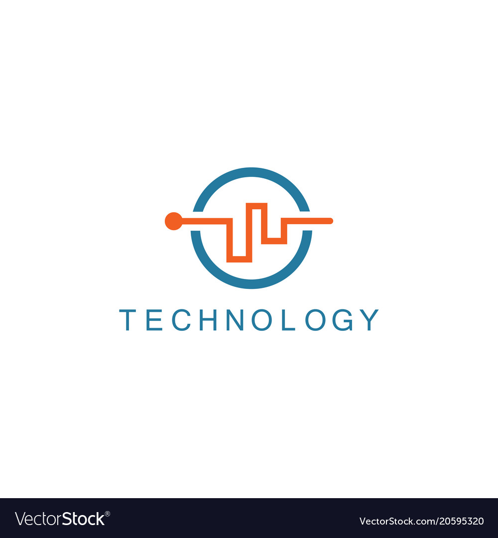 Line abstract technology logo