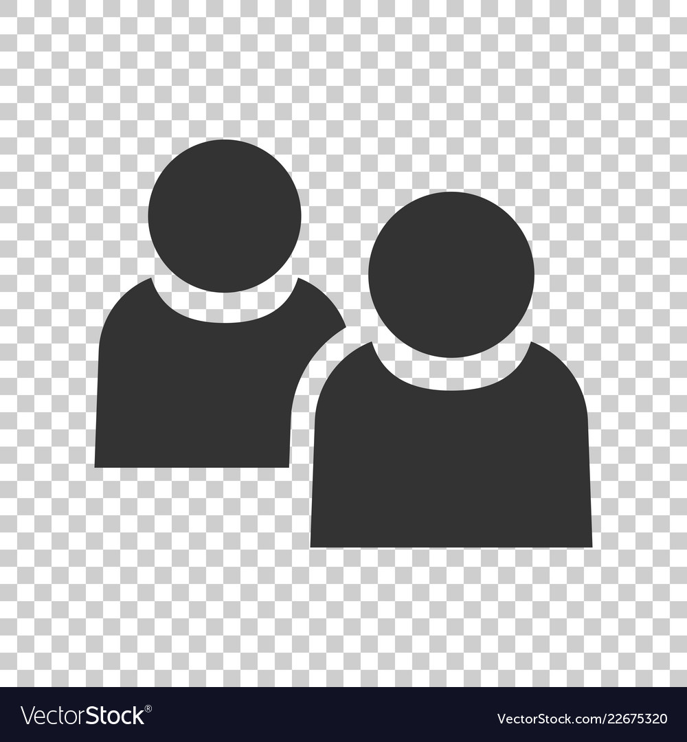 People communication icon in flat style people on