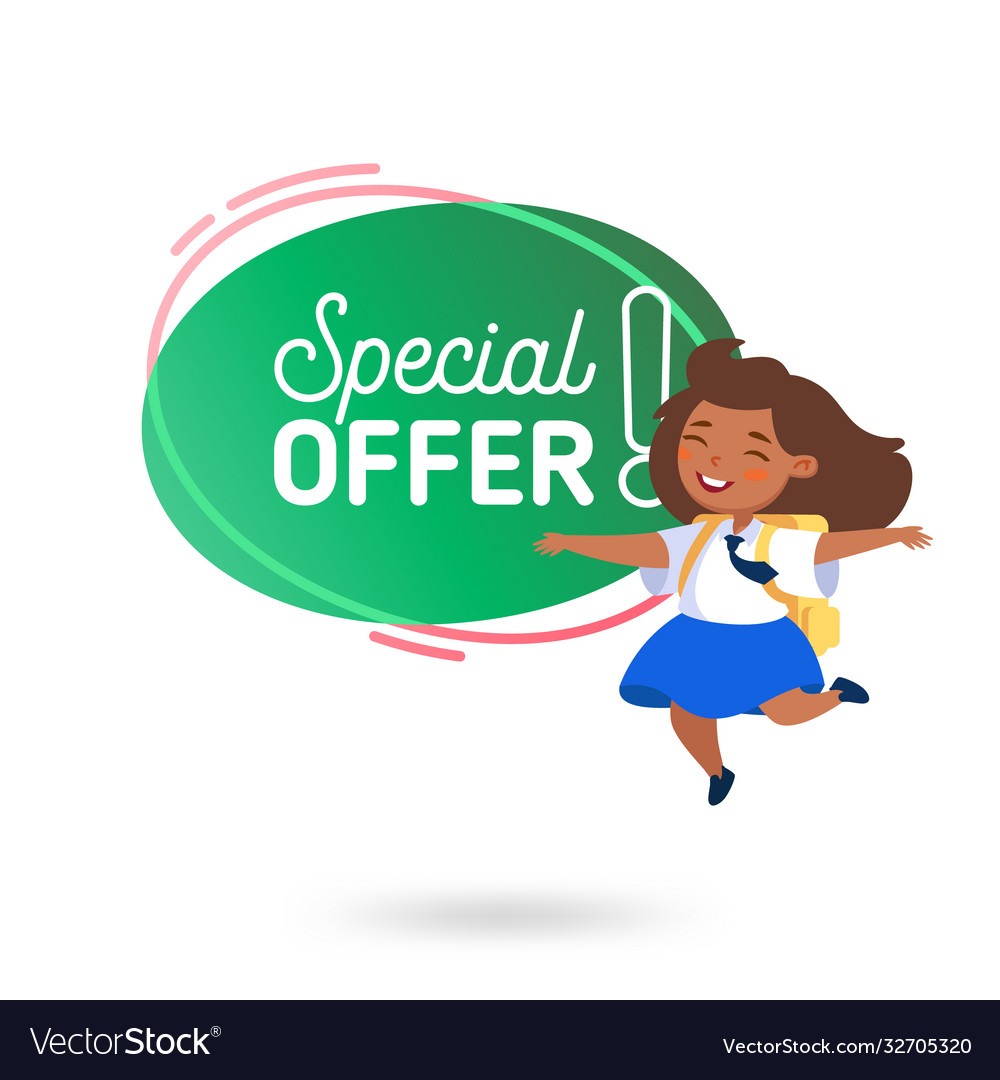 School sale special offer advertising banner cute