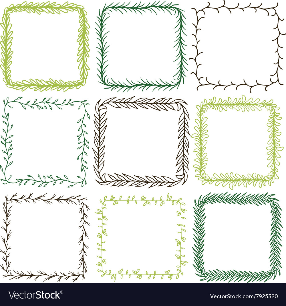 Square Frames Royalty Free Vector Image