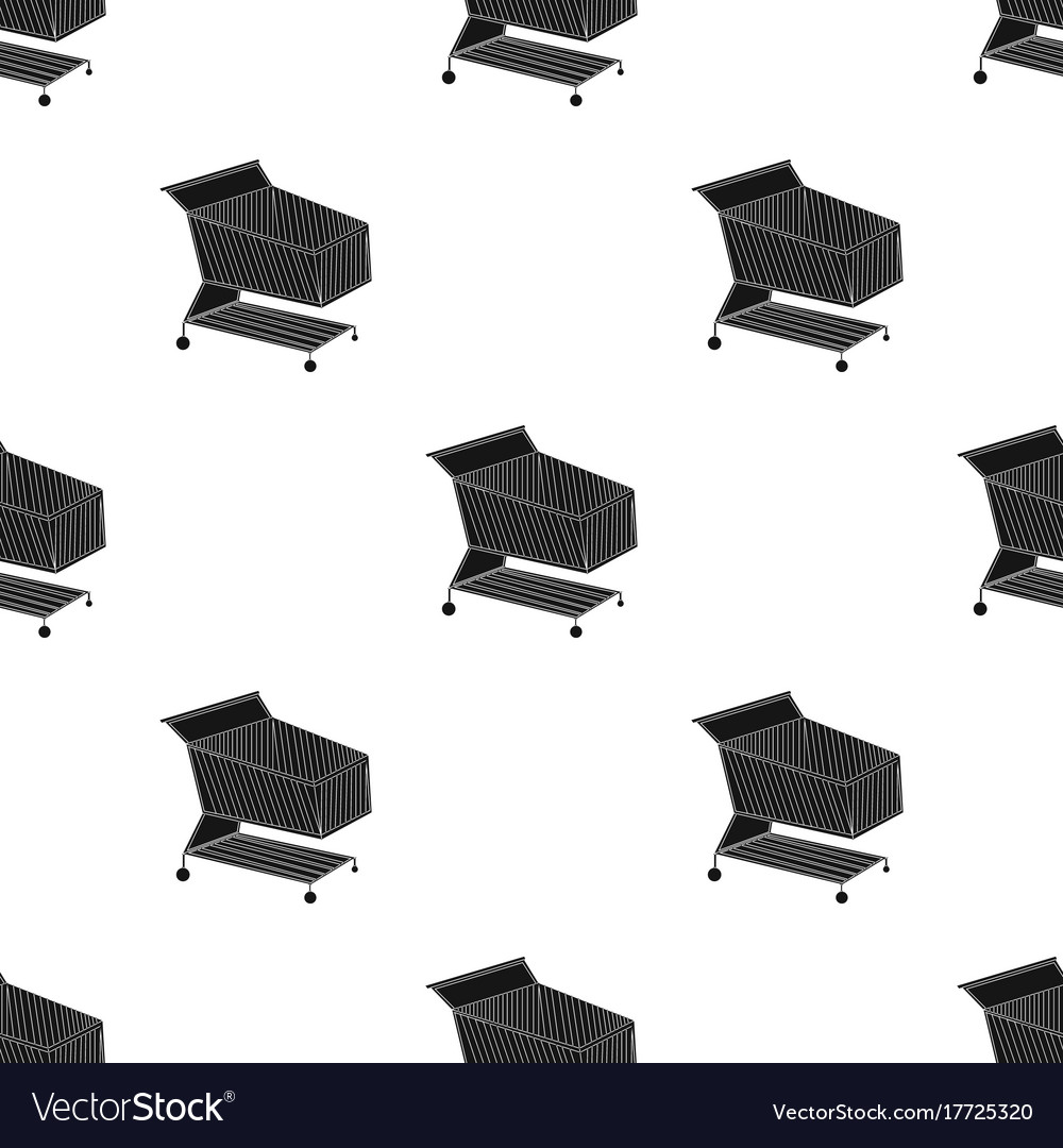 Shopping cart icon in black style isolated on