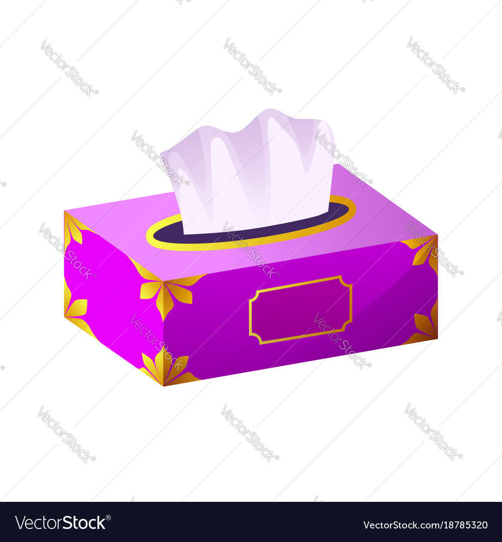 Tissue box flat icon
