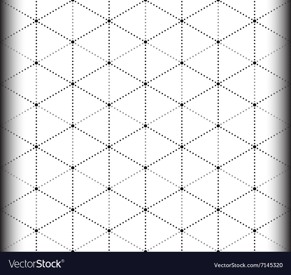 Triangle and hexagon seamless pattern