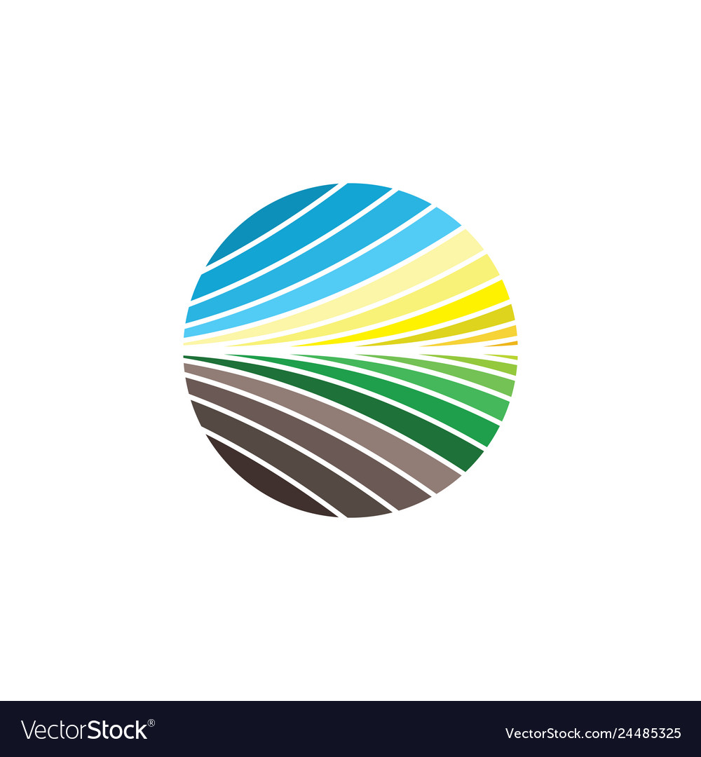 Abstract field landscape logo icon symbol element