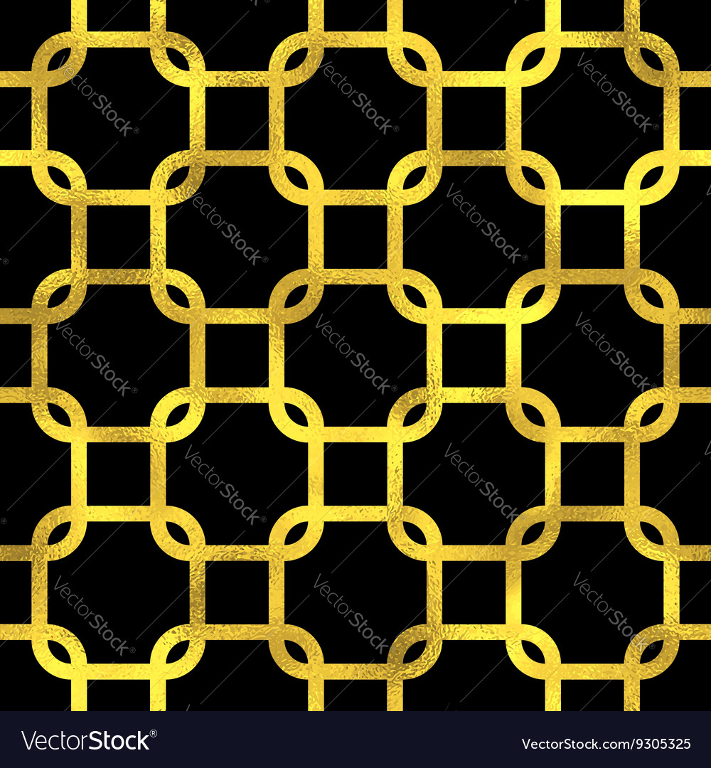 Abstract golden scaled seamless pattern