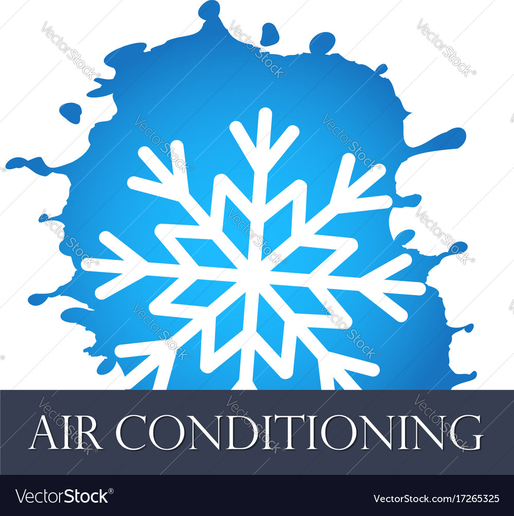 Air conditioning symbol abstract