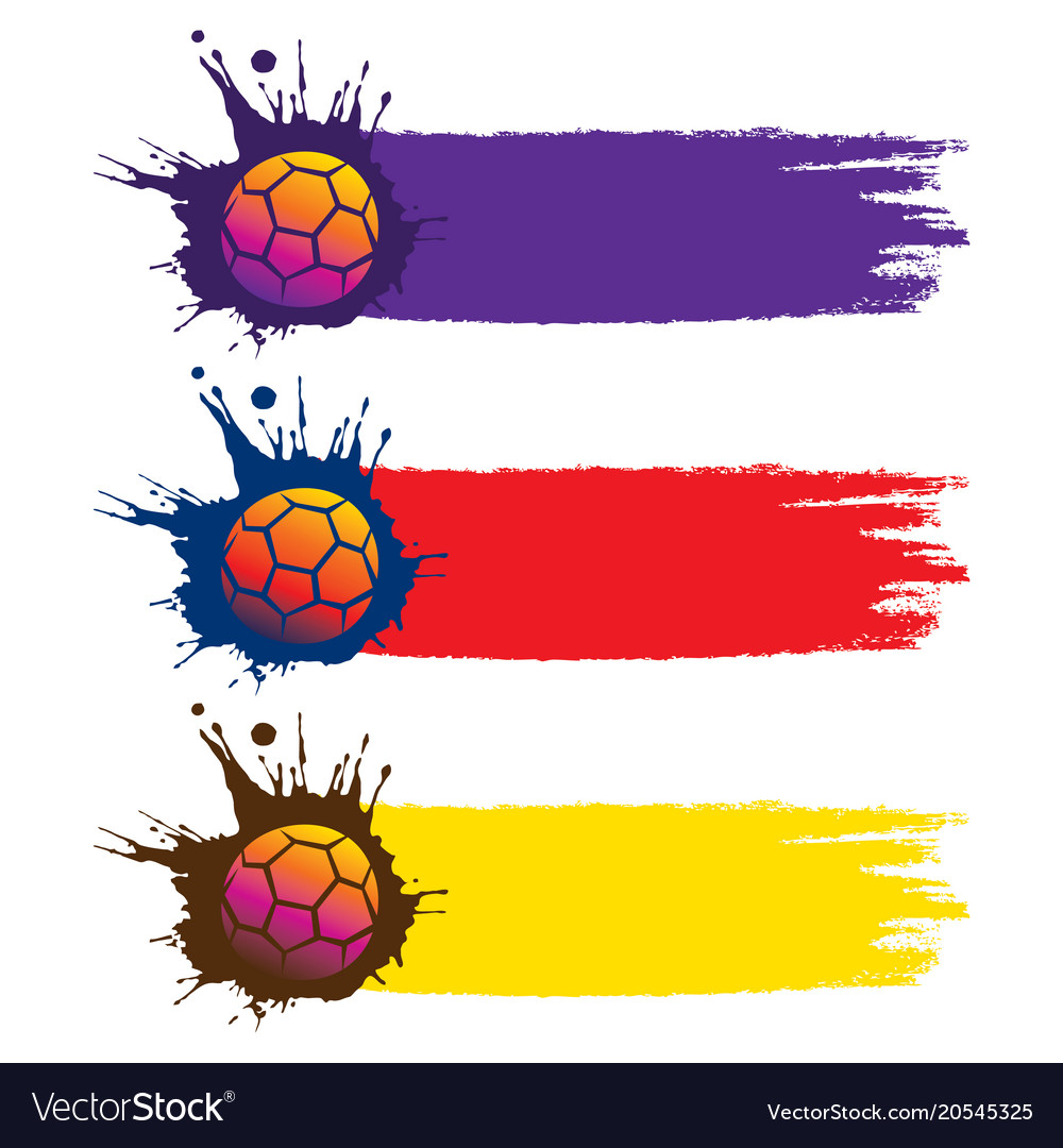 Colorful football world cup banner design vector image