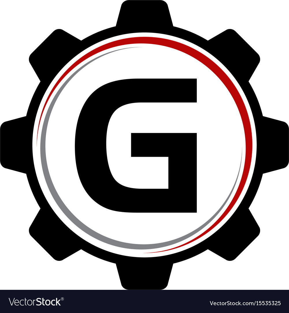 Gear solution logo letter g