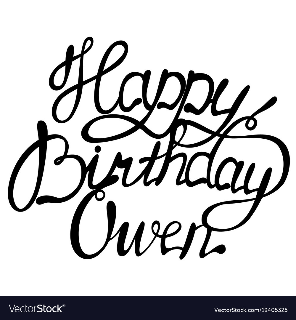 Happy birthday owen name lettering