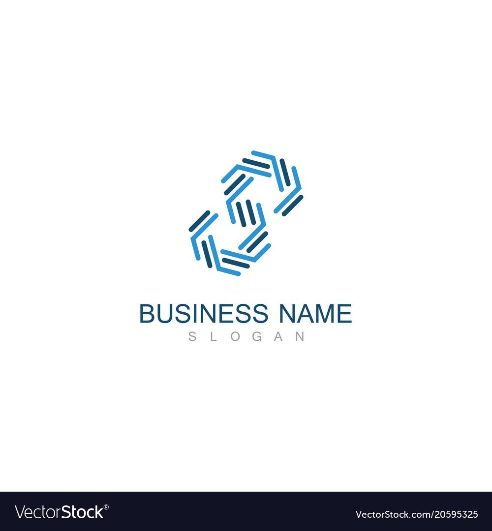 Line letter s business logo