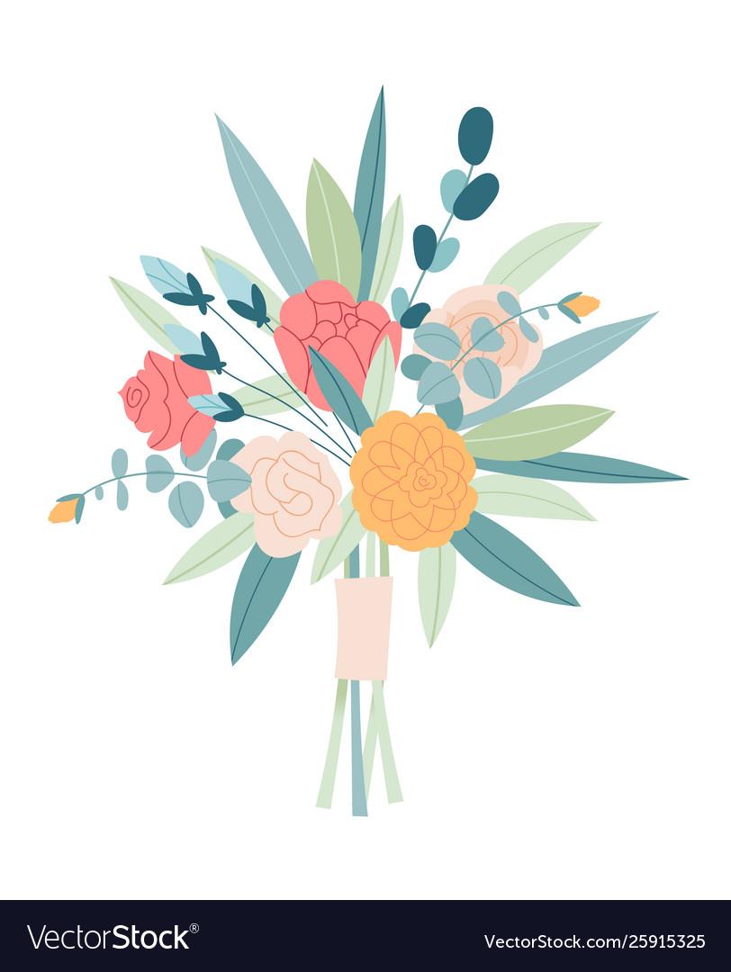 Wedding concept flower bouquet floral poster